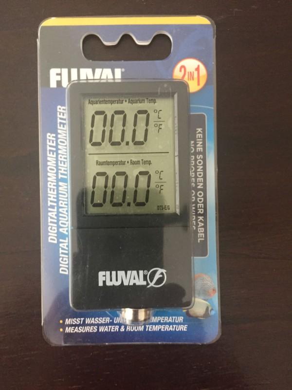 Termómetro digital para aquário Fluval LCD 2 em 1 NOVO